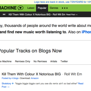 Hype Machine (Source: http://hypem.com)